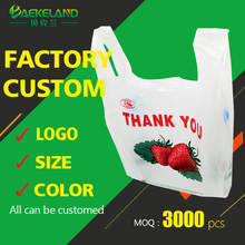 Cheap custom shopping plastic bags wholesale from China factory