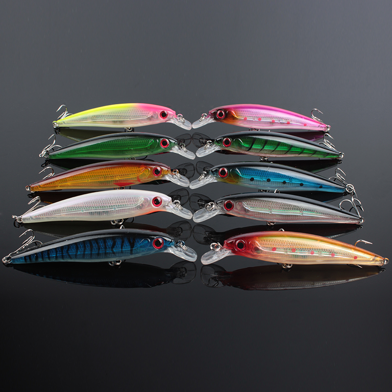 Wholesale Hard Fishing Lure 11CM /13.5G (4.33in/0.48oz) Wobblers / Minnow Diving Depth 0.6-1.8m Trout/Bass/Pike Fish Bait
