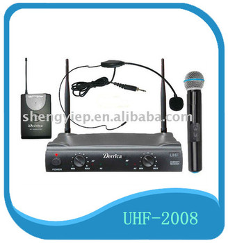 make in China hot sell plastic collar UHF wireless hand microphone for export