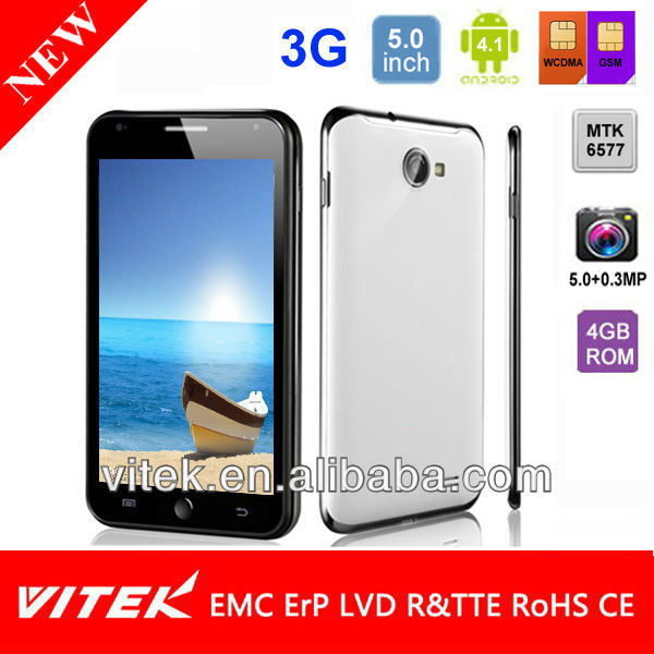 3G Android 4.1 Smart phone with Dual Core 5.0 inch Dual Sim 5.0MP camera