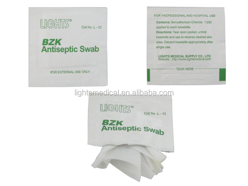 BZK antiseptic swab L 10 Medical Sterile