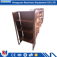 Professional design wooden candy and office file display rack
