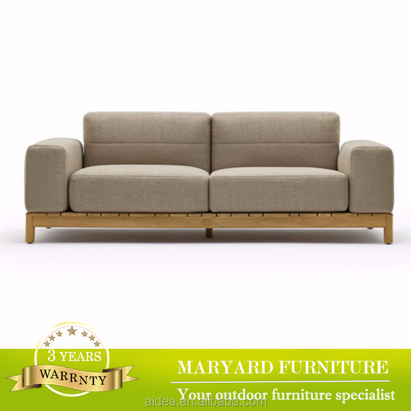 Foshan furniture factory indoor and outdoor sofa with teak base MY14-F-2