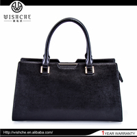 Wishche OEM No MOQ Fashion Latest Design Handbag Genuine Leather Bag Bulk Wholesale Handbags Ladies Hand Bags From Thailand W027