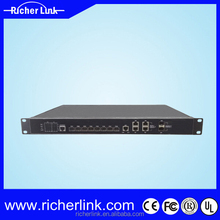 FTTH Solution EPON OLT 8PON Ports 1U /FTTH/FTTB Fiber Optic GEPON 2*GE or 2*10GE Uplink 3 Layer Route