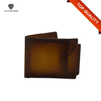 Business Casual Bi-fold Men's Luxury Genuine Leather Wallet OEM/ODM