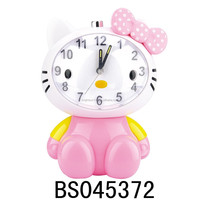 Newest cartoon cat shape voice alarm clock with coin bank