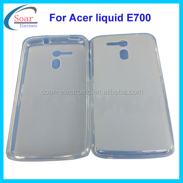clear jelly gel tpu case for Acer liquid E700,back cover cell phone case for Acer liquid E700