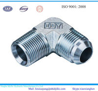 JIC male 37 degree cone/ NPT male hydraulic fitting 90 degree elbow