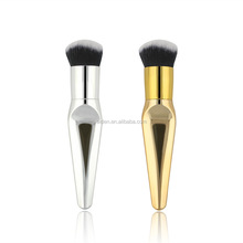 AIDEN-The new foundation brush Amazon hot gold plated aluminum tube single round fat round nylon hair fat pier makeup brush