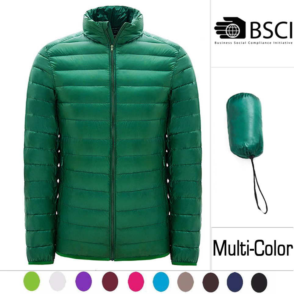 In Stock Thin Packable Impact Duck Goose Ultralight Down Jacket For Winter Men