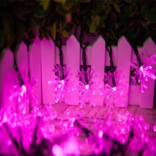 Solar snowflake string lights garden light for outdoor decoration