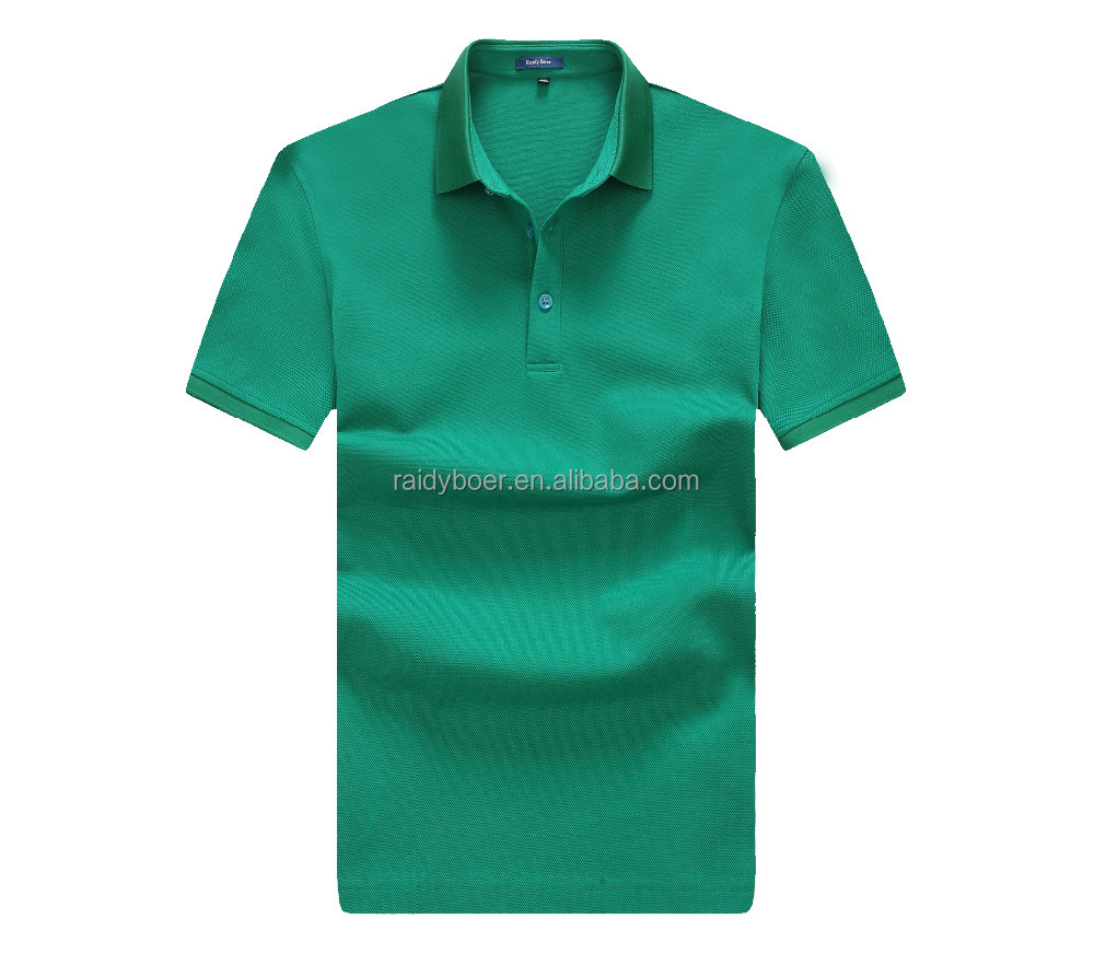 men's plain branded pique polo shirt