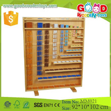 Math set intellectual Wooden Montessori Complete Bead Material without Rack (Bead Dia-0.8cm)