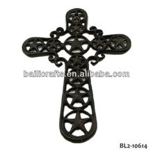 cast iron crucifix cross