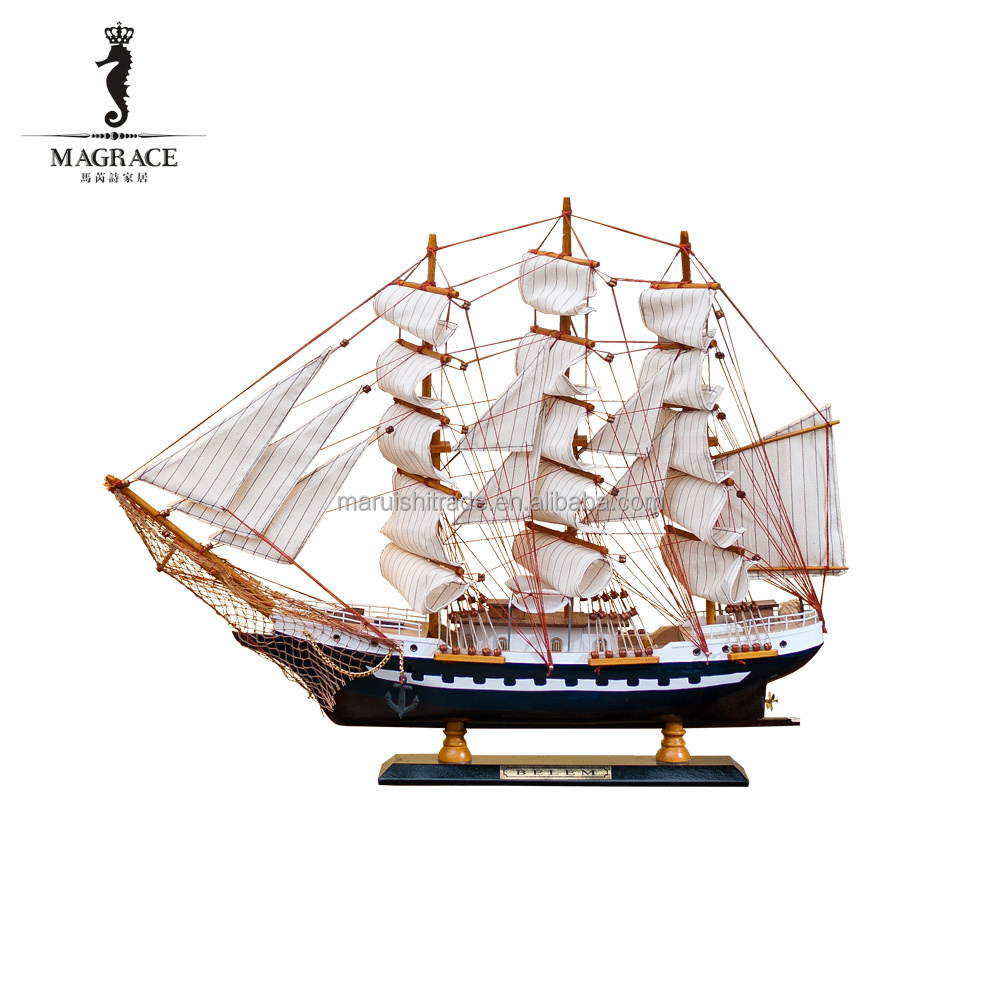Wholesale Home decorative crafts wooden Mariu ship <strong>model</strong>