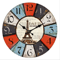 Fashion beautiful Home Good Old Looking MDF Design Wall Clock