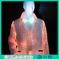 2015 new design luminous modern fiber optic jackets for men