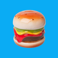Custom Hamburger Shape Ceramic Piggy Bank