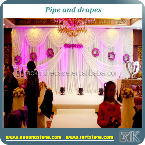 Used pipe and drapes/event backdrop drapery/cheap pipe and drape hall decor