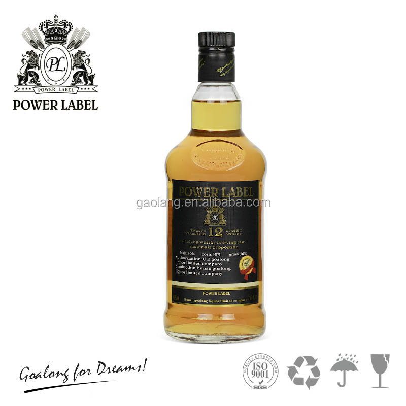 12 years whisky with whiskey bottles low price from China