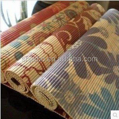 printed woven bamboo placemat for table