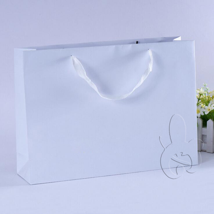 Top Quality For Garment Shop White Shopping Paper Bag