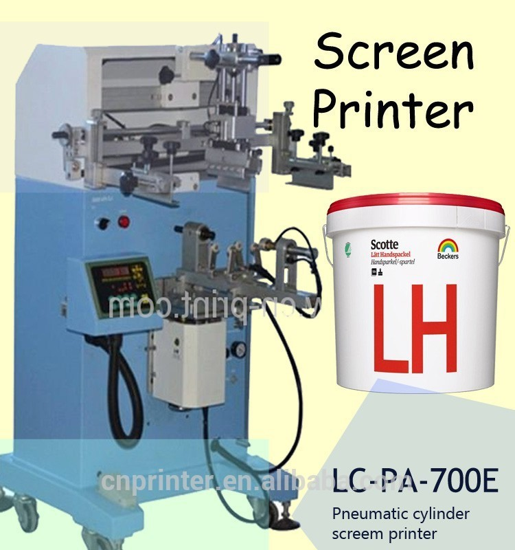 cone printing machine large-scale cylinder screen printer for Traffic Cone
