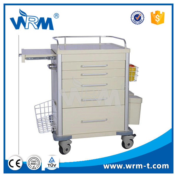 chinese medical equipment trolley with stainless steel cabinet on wheels hospital crash cart medical trolley