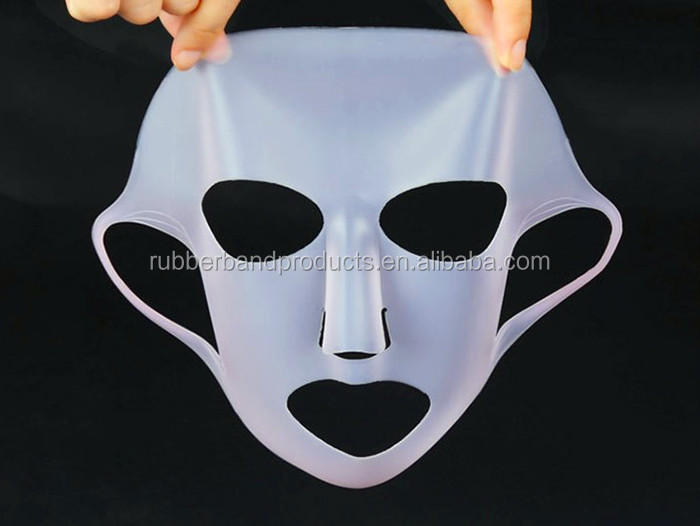 Wholesale High Quality Reusable Silicone Beauty Facial Mask Sheet, Washable Face Mask