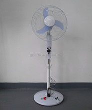 "new design 16"" 18"" ALIPU double voltage AC DC stand fan with remote control"