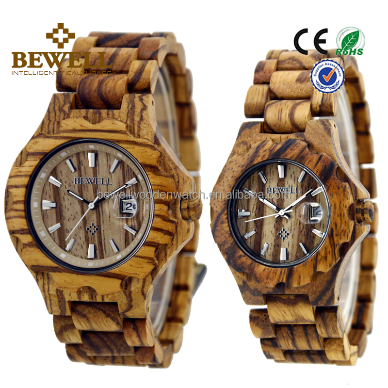 Wholesale Fashion couple lover watches oem wooden ladies watches hot selling men