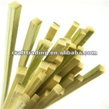 Factory Direct Disposable BBQ Used Square Bamboo Sticks