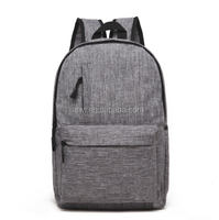 Latest factory wholesale pure color canvas backpack bag for school
