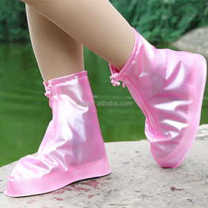 Rain shoes rain boots Plastic rubber overshoes Waterproof shoe cover