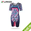 Hot!!!Limkoo Women's Streamlined Tri Suit Short Sleeve Triathlon Suit Tri Kits