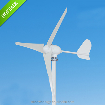 Chinese horizontal axis M Type 400W 12v or 24V small wind turbine from factory manufacturer