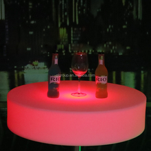 RGB Led outdoor table with IR remote control , service bar table design