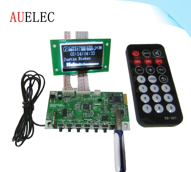 Bluetooth USB mp3 player module with FM / big LCD IR / remote / TF mini card