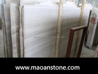 Best Selling Wooden White Gray Vein Marble Slab/Wood Grain Color