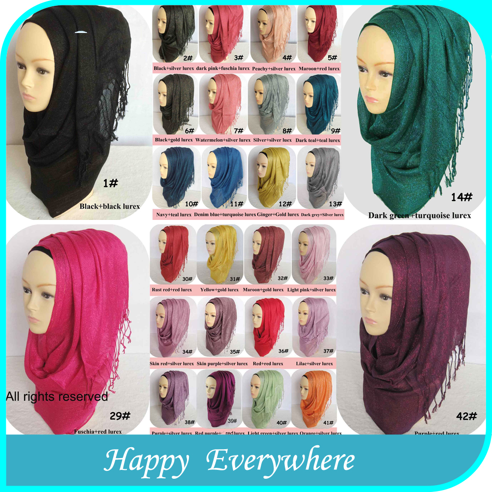 Fashion mercerized cotton newest women muslim head scarf