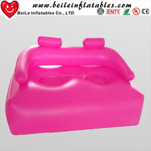 Plastic custom double daybed inflatable big sofa couch