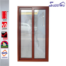 Wood color affects aluminum frame sliding glass doors with Australia AS2047 standard