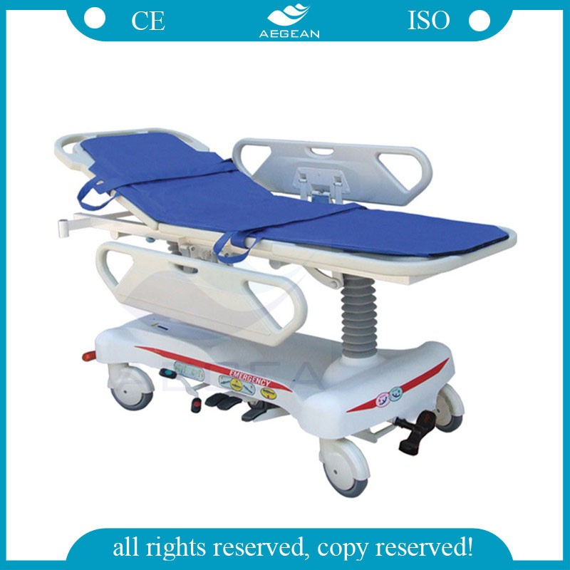 AG-HS008 hospitals equipment hydraulic evacuation chair with ABS handrail