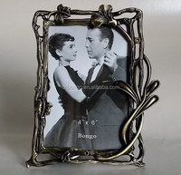 wholesale vintage scroll metal alloy photo picture frame