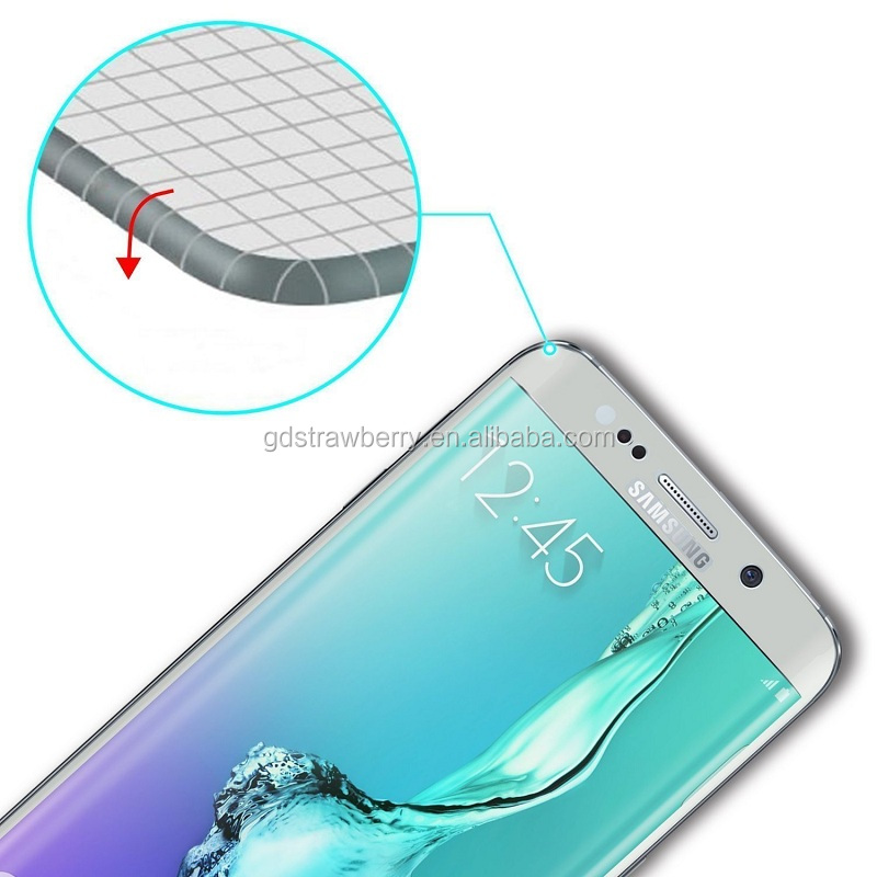 3d full cover for samsung galaxy s7 edge cellphone tempered glass screen protector