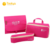 hot sale waterproof hanging foldable cosmetic makeup bag travel organizer bag with compartment