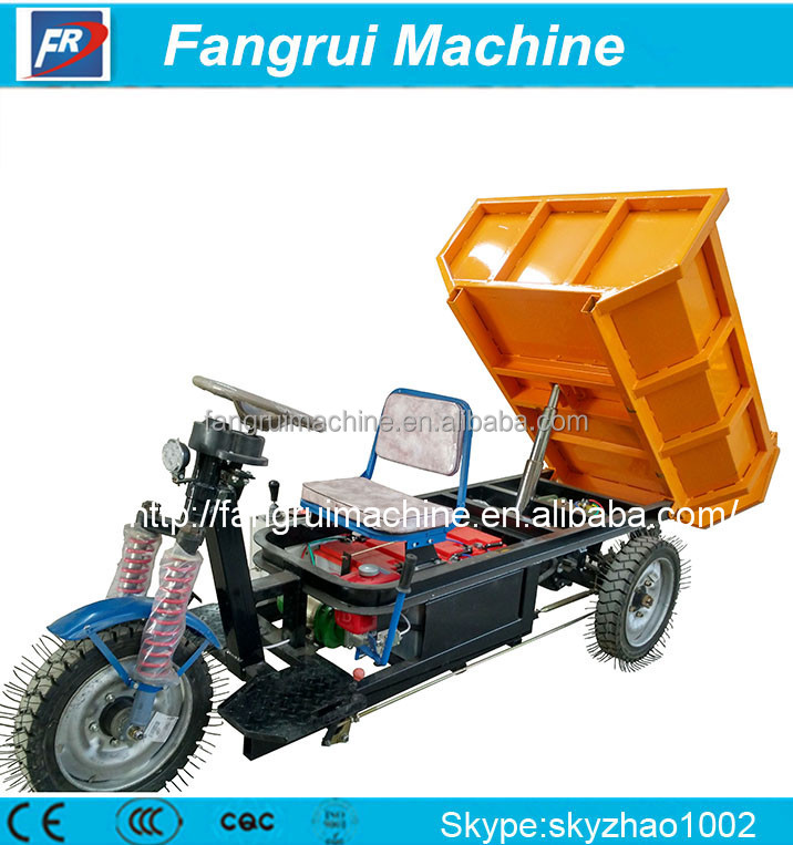 big power cleaning electric tricycle with hydraulic