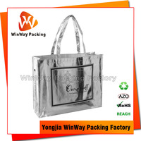 Shiny Metal Laser Lamination Fancy Shopping Bag