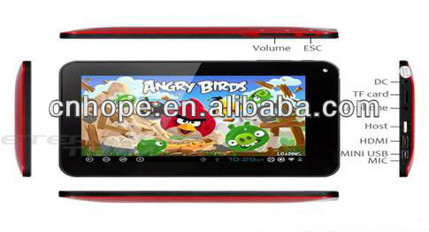 7 inch tablet pc with hdmi